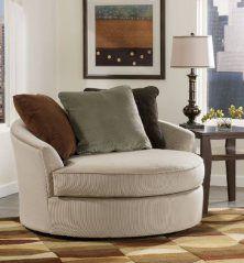 Laken Mocha Oversized Swivel Accent Chair