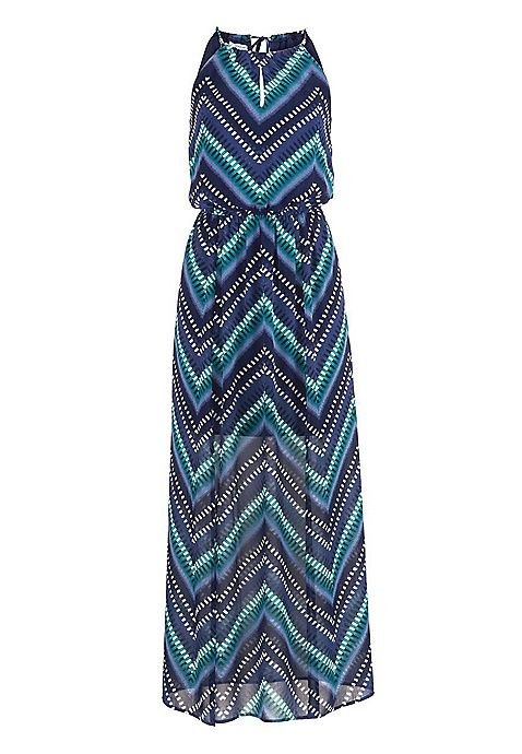 striped maxi dress with front slits | maurices