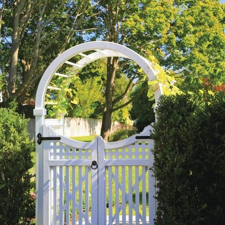 Spindle Top Arbor with Custom Gates by Walpole Outdoors