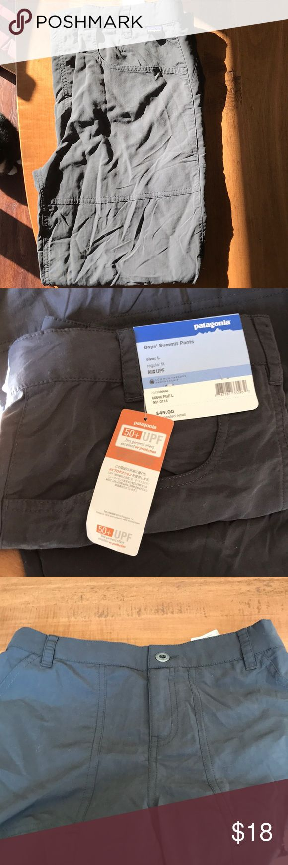 Boys Patagonia pants Size L (12) boys dark grey Patagonia pants. Brand new with tags. Retails for $49.00. Patagonia Bottoms Casual