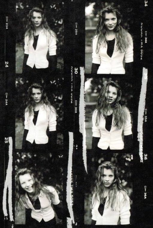 Kate Moss by David Ross, 1988.