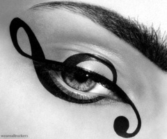 Treble clef eyes