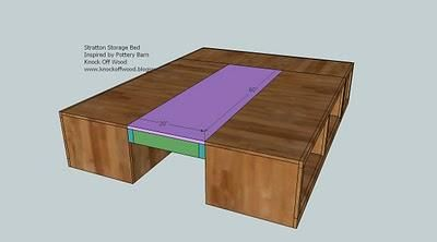 Queen Storage Platform Bed...great! Easy to read plans!