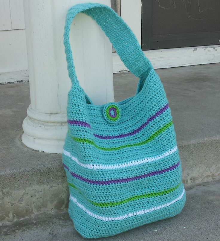Crochet Dynamite: The London Crochet Bag - I like the fact that this is a flat bottomed bag.
