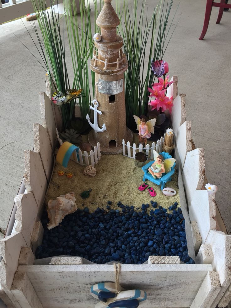 25+ Best Ideas About Beach Fairy Garden On Pinterest