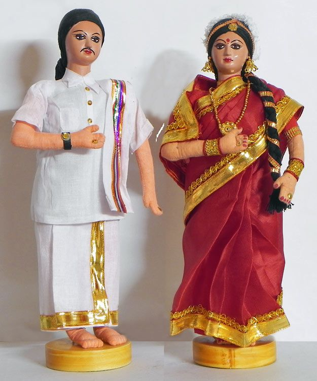 Costume Doll of india-Tamil bride and groom