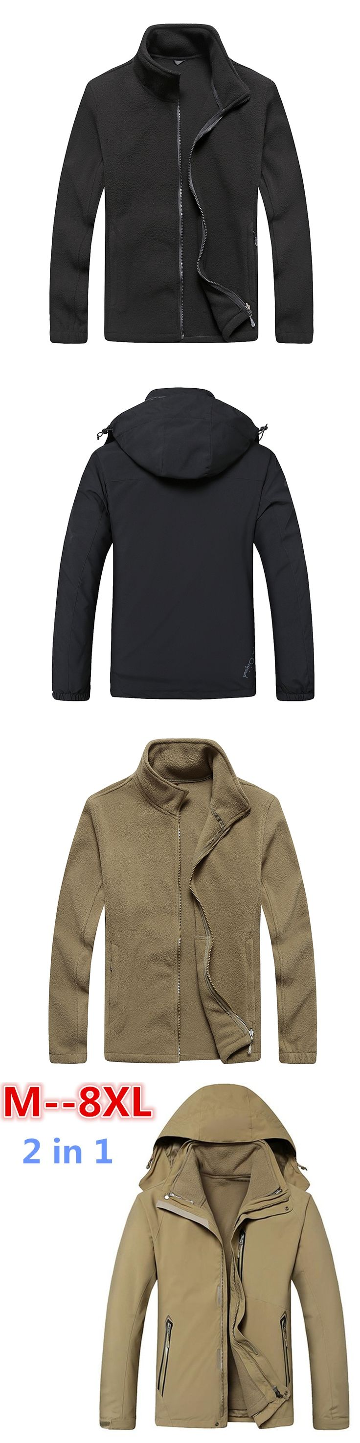 10XL 8XL 6XL Mens 2 In 1 Parkas Solid Hooded Winter Jacket Man Casual Long Padded Overcoat Streetwear Jaqueta MasculinaInverno