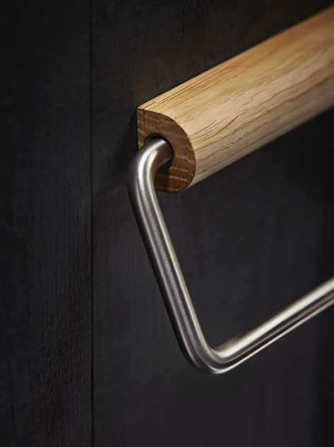 The Holt toilet roll wall brackets are crafted in the UK from FSC accredited oak and then precision finished with 5% matt interior lacquer. Durable steel components are inserted into the oak bracket to provide the base strength for the secret face fixings. A reversible aluminium rail with stainless steel finish is then attached to the bracket to hold the toilet roll.
