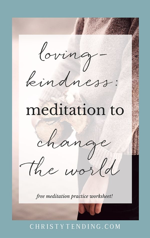 Lovingkindness meditation, or metta practice, is a form of Buddhist meditation in which one (silently) repeats a set of chosen phrases, sending wishes of wellbeing to oneself and others. We focus our loving attention on one person at a time, from ourselves to mentors, to neutral persons, to persons with whom we feel conflict.  I also see it as an inherently activist practice. Lovingkindness meditation can change the world. Find out how and get your free meditation practice inside…