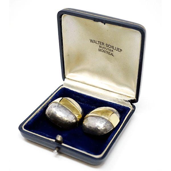 7943bd56a Walter Schluep Modernist Sterling Silver 18k Gold Earrings in 2018   Jewelry    Pinterest   Earrings, Silver and Sterling silver