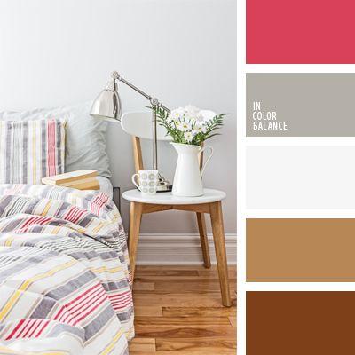 blanco y gris, color blanco en interiores, color gris en interiores, color rojo frambuesa, combinación de colores para decorar interiores, de color plata, marrón, marrón pastel, matices cálidos del marrón, selección de colores para el diseño de interiores.