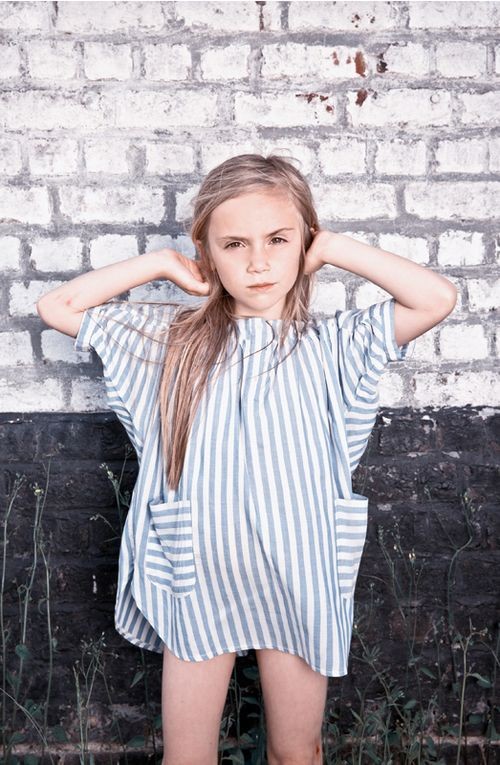 striped and the perfect length, this dress is everything. #estella #kids #fashion