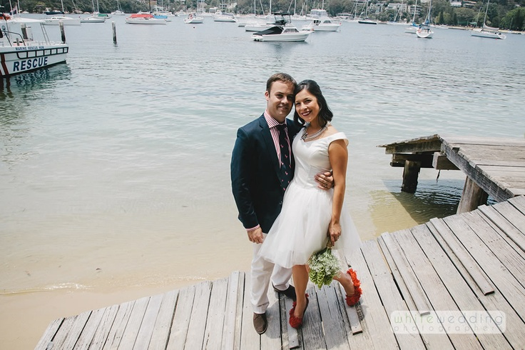 Juliette and Hamid's were married at St James Church in Castlecrag and location photos around The Spit with their wedding reception celebrations at the Zest Restaurant located on the water at the Spit in Mosman.
