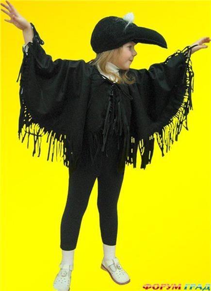 Детский костюм сороки своими руками