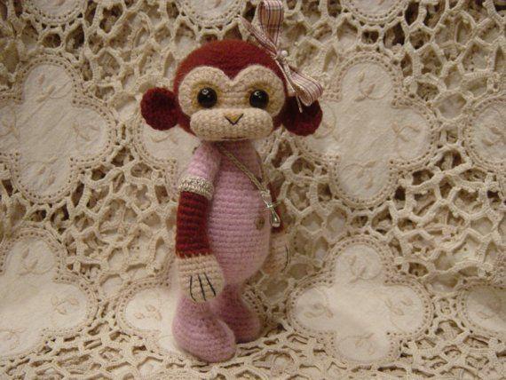 Baby Becca OOAK ThReAd crochet artist Monkey by CrochetTeddyBears
