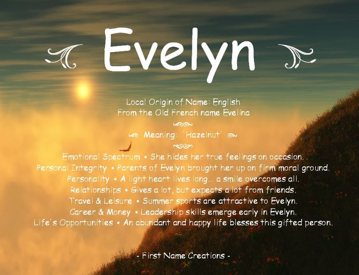 evelyn name meaning - Google Search