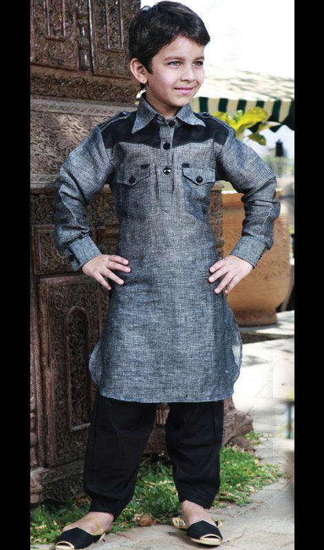 Poly Remi Linen Kurta Pathani. Poly Remi Linen Kurta Pathani.Keep Ahead In Fashion Race With This Readymade Kurta Pathani. #PathaniStyleKidsKurta #TraditionalWearBoysSherwani