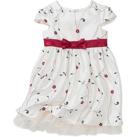 George - Baby Girls' Holiday Dress, Red