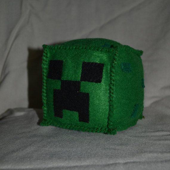 Minecraft Creeper Felt Plush Cube