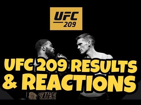 MMA UFC 209 Results & Reactions
