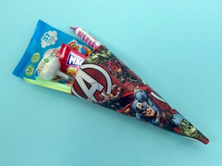 x Captain America/Avengers/Super Hero Party Bags/Party Supplies/Sweet Cones