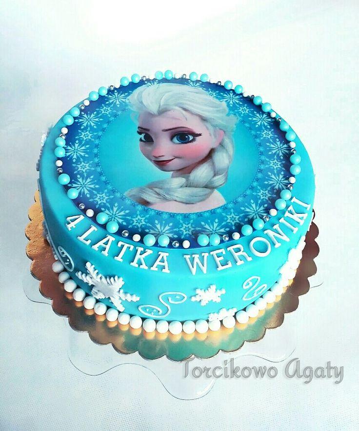 #Frozen #Elza #fondant #cake
