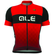 #Ale R-EV1 Rumbles Jersey - Black/Red - S - #Our high-end line: the R-EV1 jersey is ideal for the riders that require a professional and race fit al well as high performance materials. CONSTRUCTION Giro sleeves and lower collar on the front for a better comfort. The back in Rib 130 fabric protects from the harmful UVA and UVB rays, promotes freshness and keeps the ideal body temperature. DETAILS: 4 pockets system Ale Full zipper Ergonomic collar Shaped sleeve and waist bands with gripper…