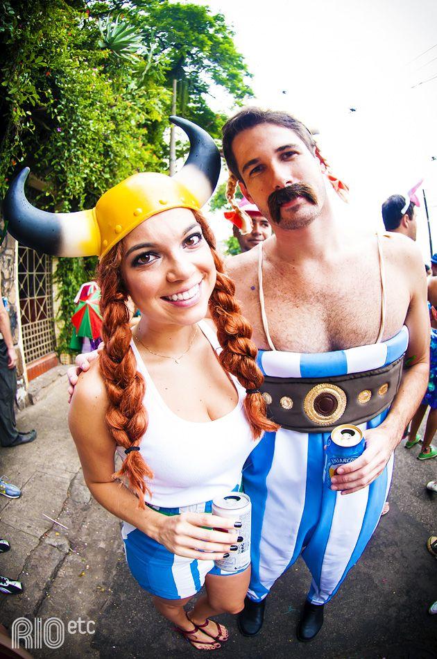 Fantasia de Carnaval viking inspirada no desenho Asterix e Obelix