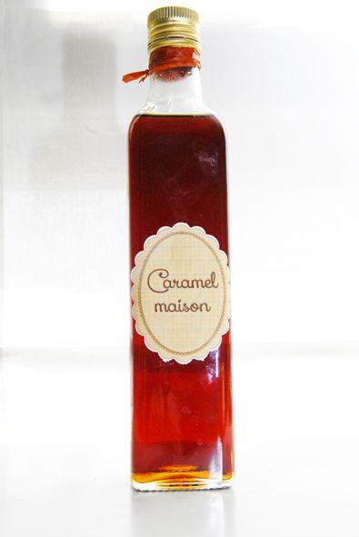 Caramel liquide fait maison - Se conserve jusqu'à 1 an à l'abri de la lumière.