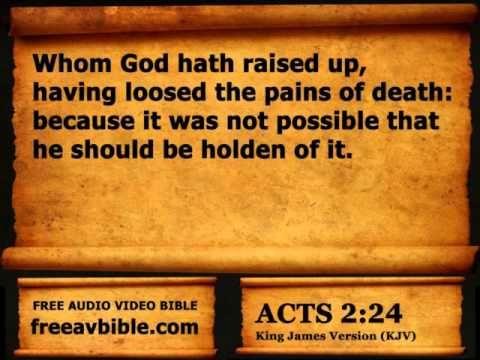 #44. Acts Chapter 2 King James Version KJV – Free Audio Video Bible (AV ...