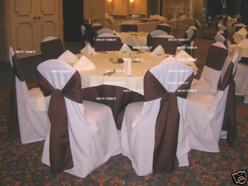 chair covers wedding ebay red leather barrel 100 brand new polyester banquet love is golden chairs