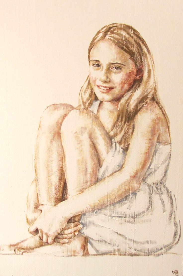 niña retrato -  M. Isabel Barros Alcalde
