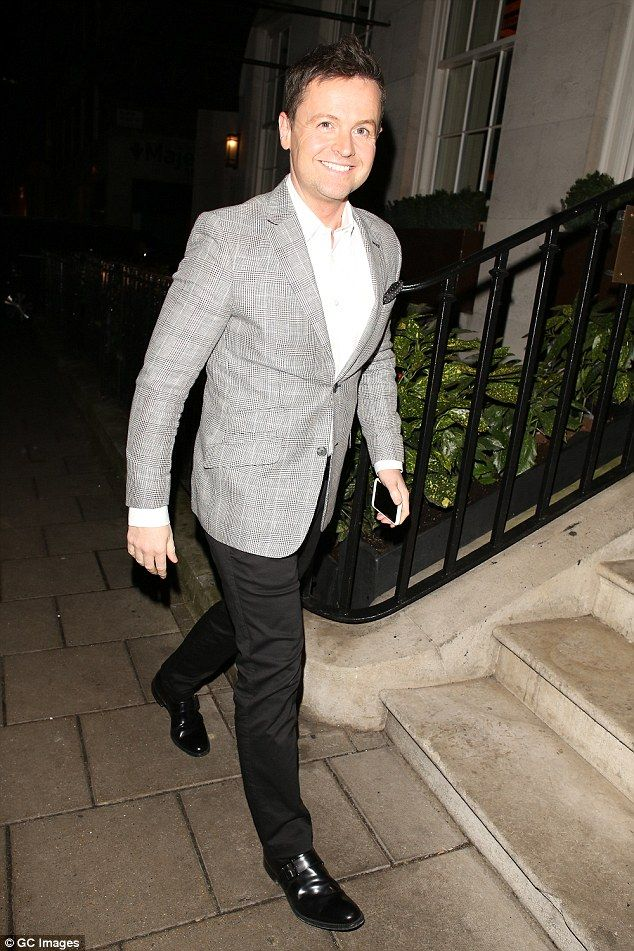 Declan Donnelly joins wife Ali Astall for a pals party  Alongside his double act partner Ant McPartlin he scooped the Best Presenter prize for a record-breaking 17th time at the National Television Awards this week.  So it was no wonder Declan Donnelly looked in high spirits as he headed to a friends party in London Mayfair on Thursday.  The Im A Celebrity host was all-smiles as he joined his wife Ali Astall at the bash where he also partied with Britains Got Talent pals Amanda Holden and…