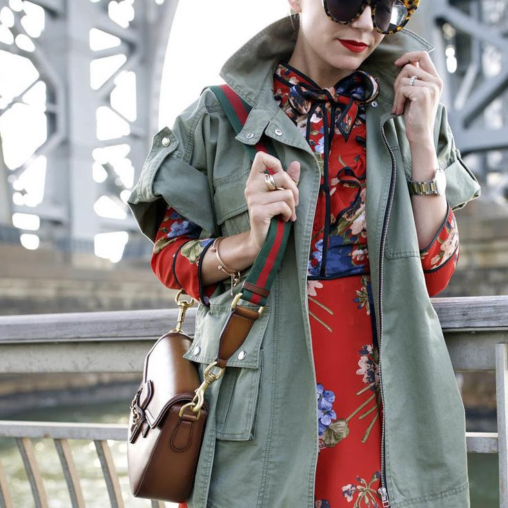 Ok, if you haven't invested in a green utility jacket yet, Blair Eadie of Atlantic-Pacific is proof alone why you absolutely must. You can pair it with festive dresses or even the most neutral basics, and it'll keep you looking authoritative on campus.