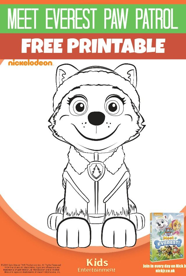 Meet Everest Paw Patrol Printables