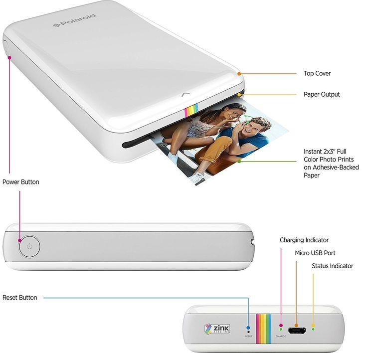 Polaroid ZIP Mobile Printer w/ZINK Zero Ink Printing: Amazon.co.uk: Camera & Photo