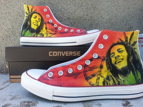 Bob Marley Custom Converse All Stars I need these in my life.