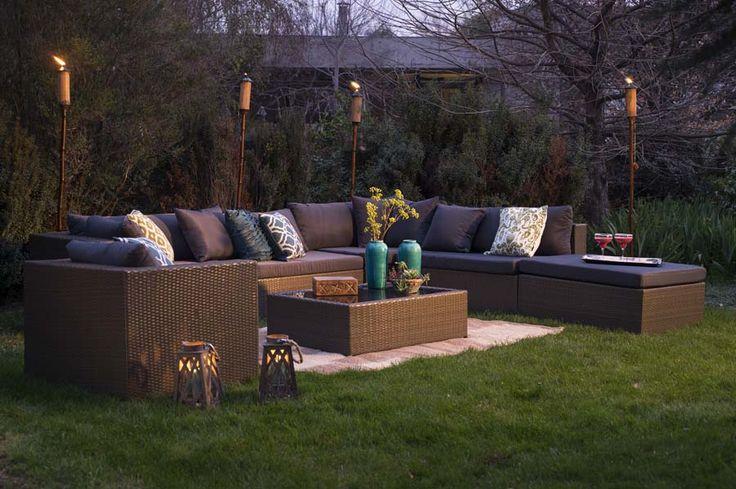 El atardecer más cómodo y con más estilo lo vivirás con este juego de terrazas. #airelibre #terrazas #balcones #easytienda #tiendaeasy #Terrazas2015 #Easy