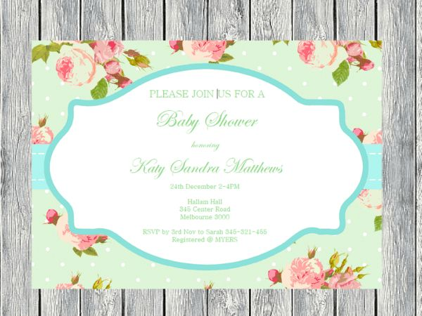 best invitations printable images on   shower baby, Baby shower invitation