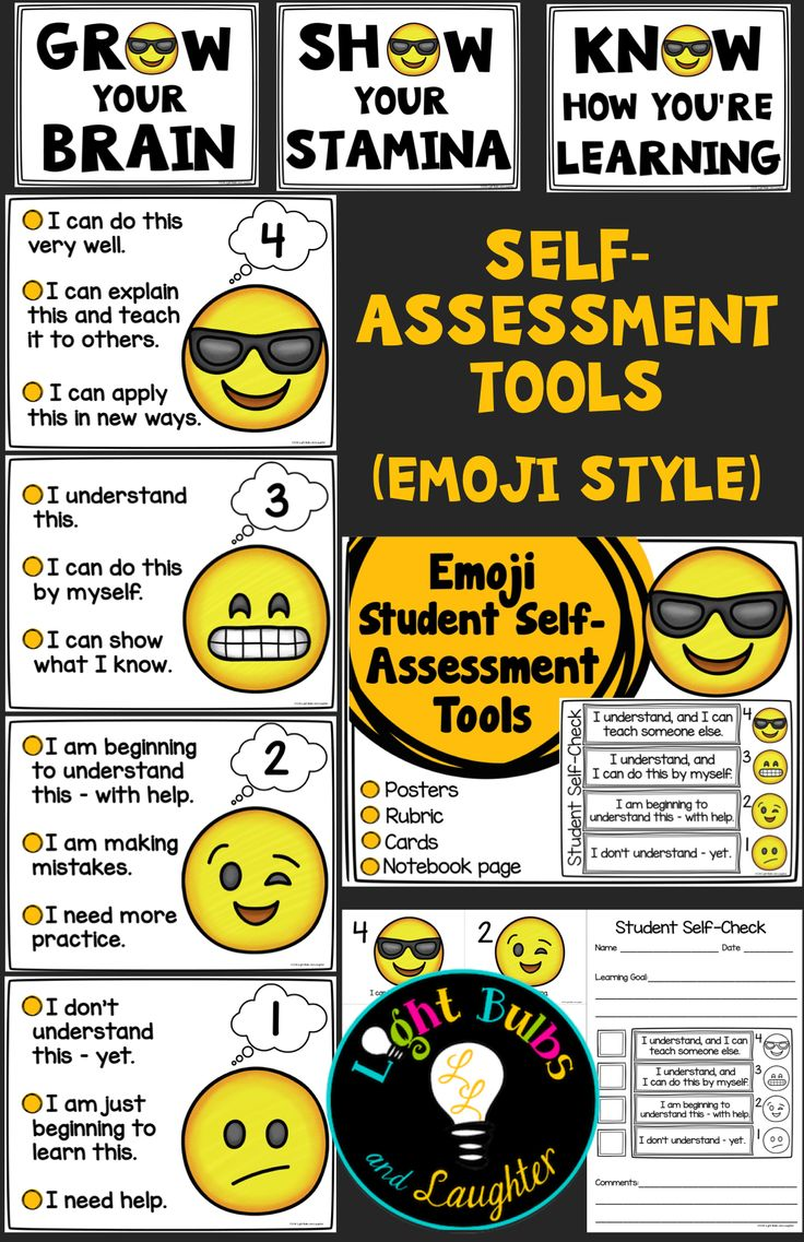 Student Self Assessment Tools - Emoji Style! Everything you need to get students thinking about their learning every day.