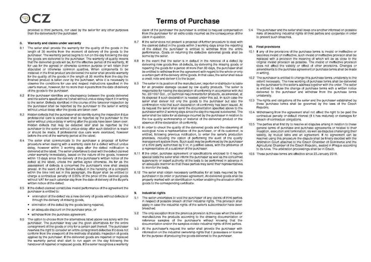 Templates Purchase Agreement - Templates Hunter Purchase Agreement