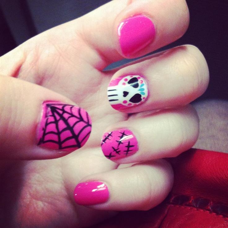 My girly Halloween nails! #nails #halloween #beauty ...