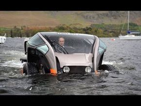Amphibious vehicle. It's real too!
