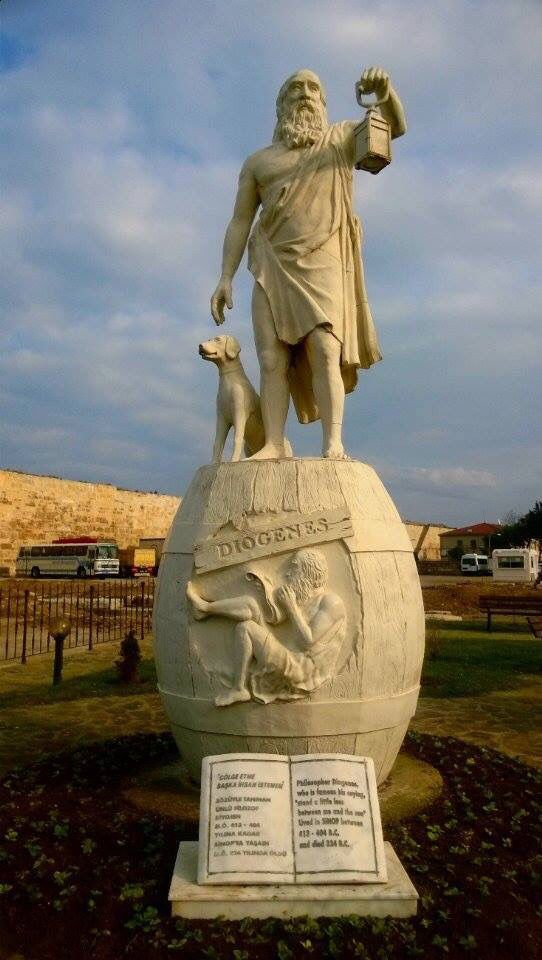 Diogenes of Sinope. Spent his days searching Athens for an honest man. Never found one. Sinop Turkey. By Ferhan Balırak