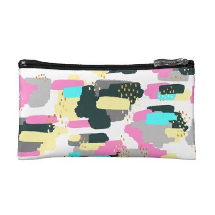 Modern Paint Memphis Art Small Cosmetic Bag - modern gifts cyo gift ideas personalize