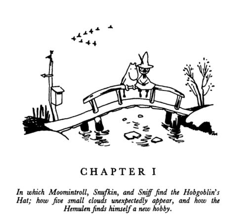 Moomintroll & Snufkin on the bridge