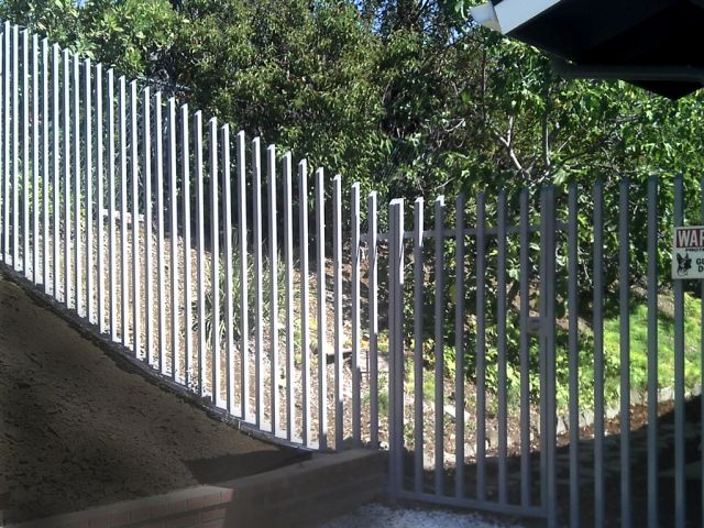 Modern wrought iron fence