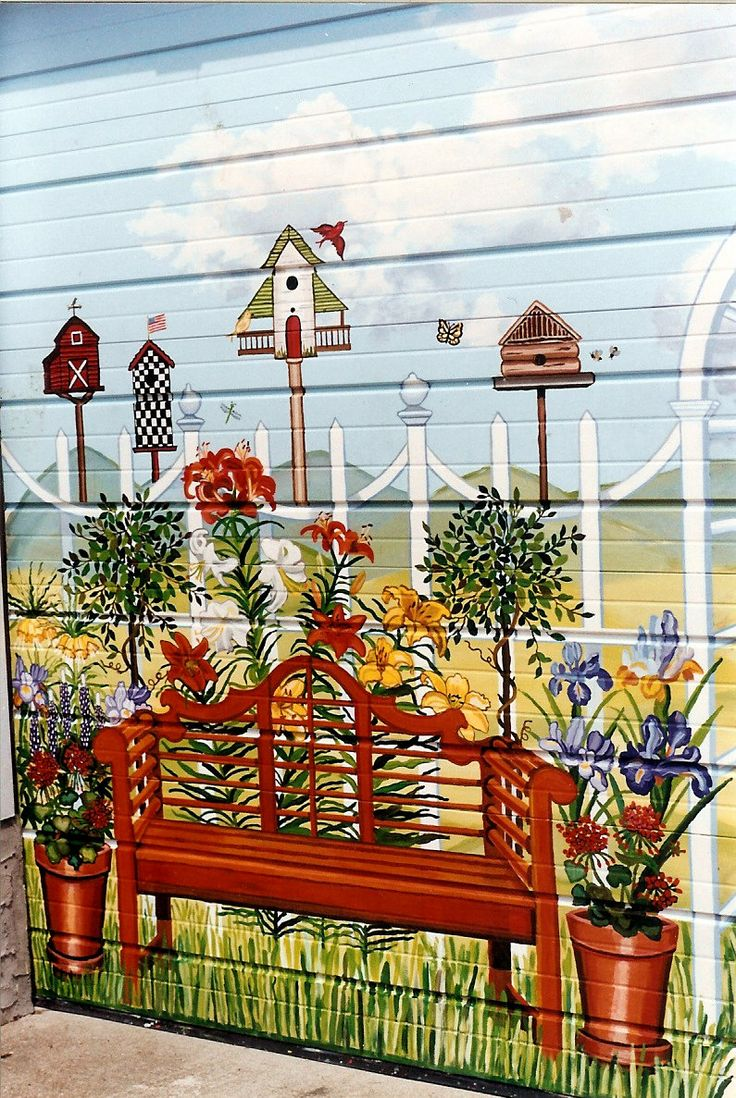 Garage Murals | Country Garden Garage Door Mural For Backyard Of Home In  Baldwin, New