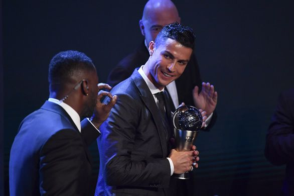Cristiano Ronaldo was named the 2017 Best FIFA Men's Player of the Year at a star-studded ceremony in London on Monday.  The Portuguese forward, who won last year's inaugural award, fired Real Madrid to the La Liga title and scored 12 goals as the Spanish giants won the Champions League.   #Ronaldo