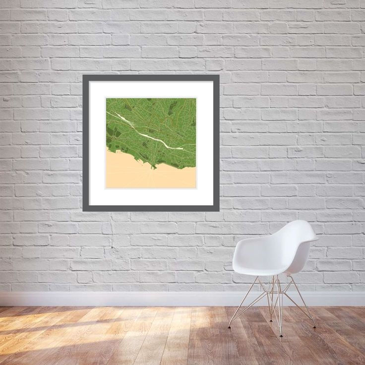 Premium quality print. Map of Lausanne in olive colours. Will perfectly match your interior design. More at https://brandfinity.net/index.php/print/map-europe/lausanne.html